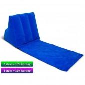 Wicked Wedge opblaasbaar lounge kussen blauw