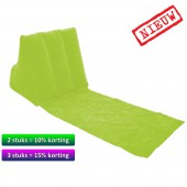 Wicked Wedge - opblaasbaar lounge kussen - GROEN - new